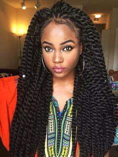 a large twist in straight hair 5pcs havana mambo twist crochet braid hair kinky marley
