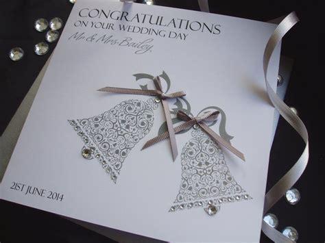 Handmade Wedding Cards Uk - handmade wedding card wedding bells handmade cards pink