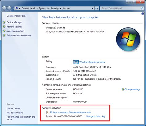 reset xp 30 days activation activating windows 7 rtm online