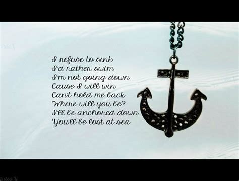 I Will Not Sink Quotes anchor quotes quotesgram