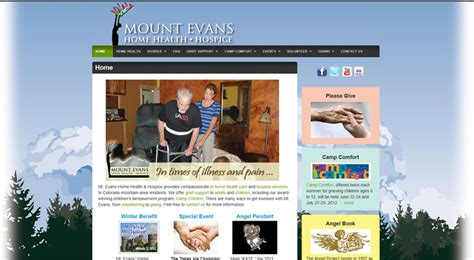 pin by lisa mosow on web design pinterest mt evans home health hospice website redesign