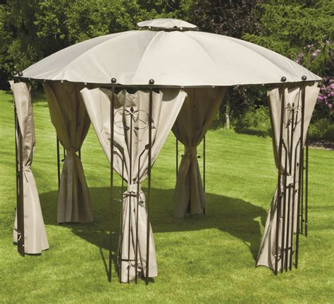 round gazebo with curtains captivating outdoor living decor featuring round rustic