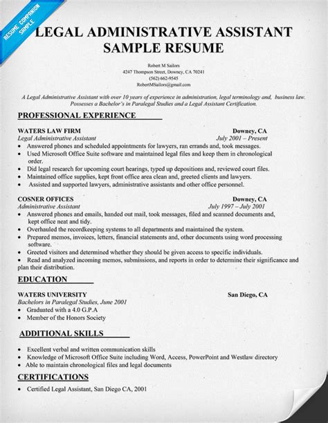 law firm administrative assistant resume legal resume examples search results calendar 2015