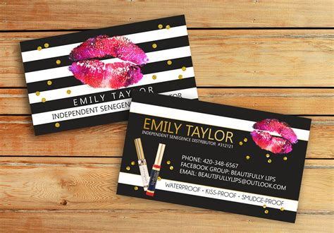 Lipsense Business Cards Senegence International Lipsense Lipsense Business Cards Template