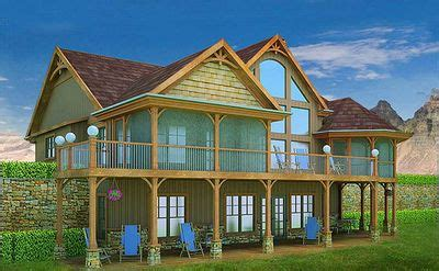 adirondack style getaway 5433lk architectural designs mountain and lake escape home plan 92362mx