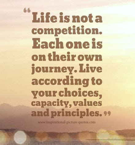 own your living according to your own and your own terms books is not a competition each one is on thier own journey