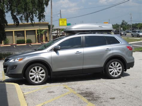 2011 Mazda Cx 9 Roof Rack by Cargo Boxes Attached To Oem Rack