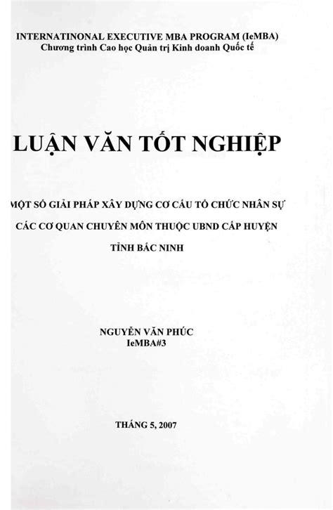 Mba Program In Oc by Nguyen Phuc Mot So Giai Phap Xay Dung Pdf