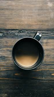 Coffee On Table Coffee Cup On Wooden Table Top View Android Wallpaper Free