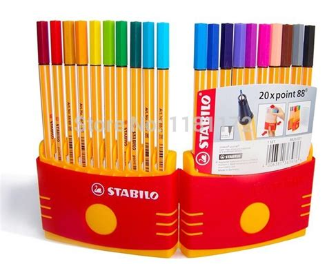 Stabilo Write 4 All Set 4 Mix Color Hanging Stabilo Point 88 Pen Sets Color Set Set Of 20 Point Marker In Markers From Office