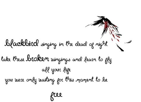 take these broken wings and learn to fly tattoo take these broken wings and learn to fly black bird