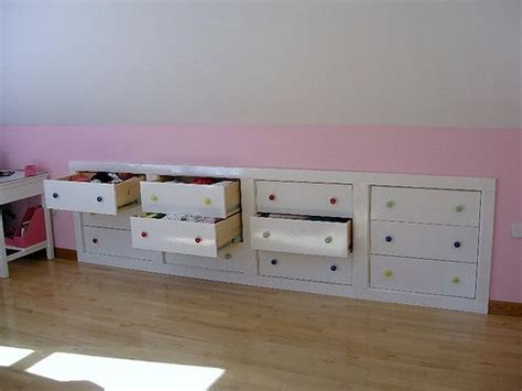 Knee Wall Storage Drawers by Drawers In Knee Wall Craft Room Ideas