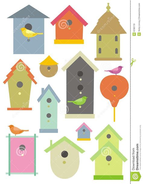 Different Styles Of Houses bird houses royalty free stock images image 8786119