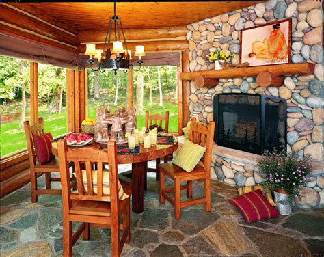 Log Sunrooms In A Log Home Sunroom