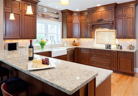 Kitchen Countertop And Backsplash Combinations Giallo Ornamentale Granite Counters Modern Kitchen