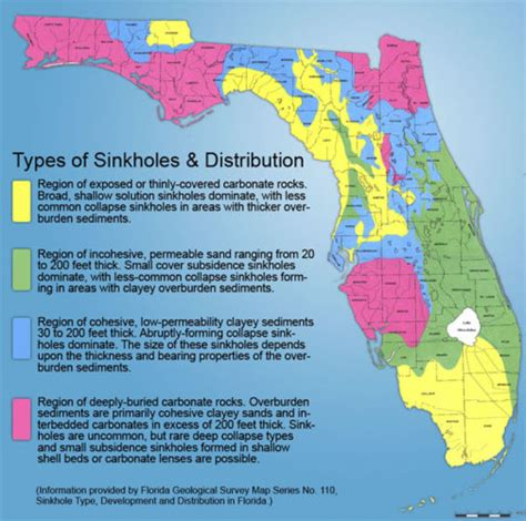 sinkhole map of florida plotted where villages sinkholes occurred page 3