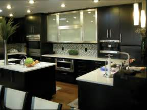 Kitchen Cabinet Interiors Calm Yet Bold Espresso Kitchen Cabinet Picture Collections
