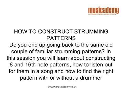 Strumming Pattern Carry You Home | strumming patterns on guitar breakforth 2013