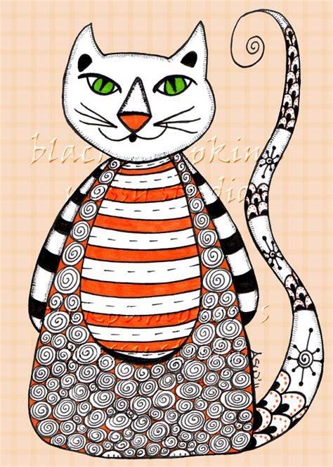 doodle cat zen doodles doodle cat hoot cards
