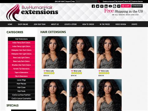 design by humans similar sites human hair extensions web design web design for hair