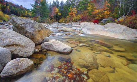 wallpaper river water rocks trees clear mountain river rocks trees with autumn yellow and