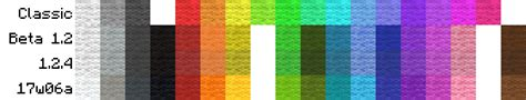 wool colors minecraft comparison of wool colors from classic to 17w06a minecraft