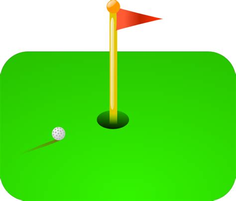 golf clipart golf flag clip at clker vector clip