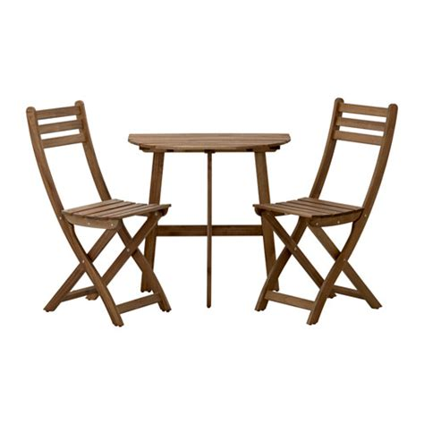 Ikea Folding Table And Chairs Askholmen Balcony Table And 2 Folding Chairs Ikea