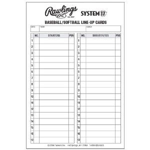 printable baseball lineup card template line up card baseball baseball lineup cards crap
