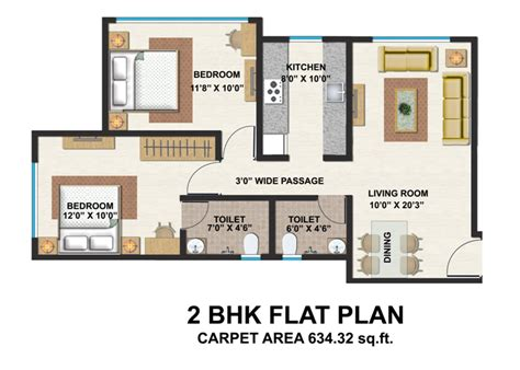 2 bhk flat plan under construction 2 bhk ghatkhoper east kul tulip