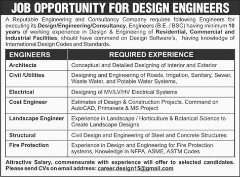 design engineer jobs northton design engineer jobs in pakistan 2015 september for