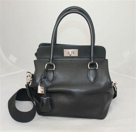 Hermes Black hermes black evercolor 20cm toolbox handbag circa 2010
