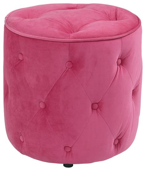 round pink ottoman curves tufted round ottoman in pink velvet outdoor