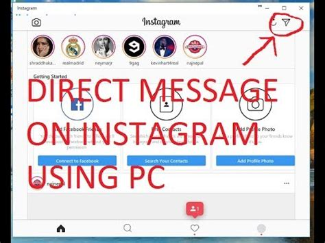 tutorial instagram direct message how to send direct message on instagram using pc 2017