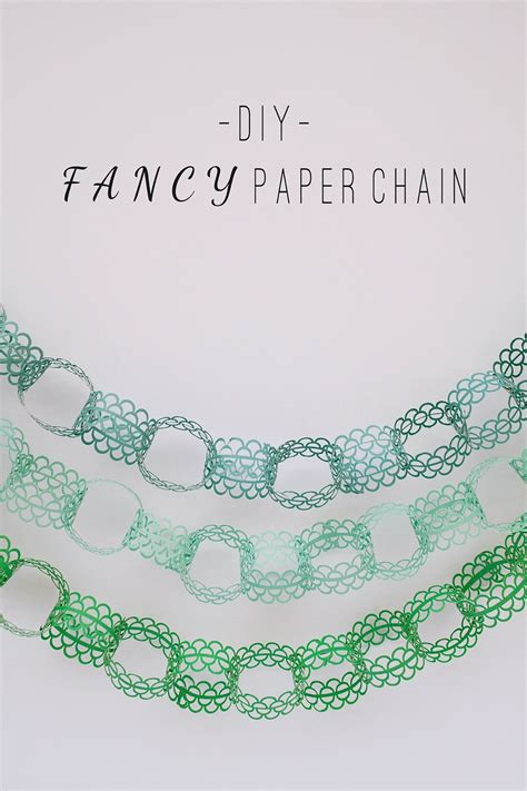 How To Make Paper Chains - tell and chocolate tell diy fancy paper chain