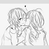 Kissing Couple Sketch   500 x 426 jpeg 36kB