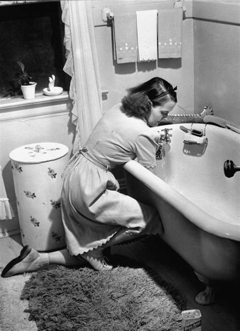 bathroom lady photo inside the demanding life of an american mother in 1941