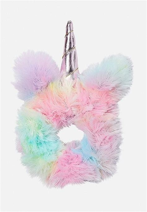 pastel unicorn scrunchie justice unicorn fashion