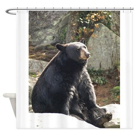 black bear curtains black bear sitting shower curtain by bluehawaii