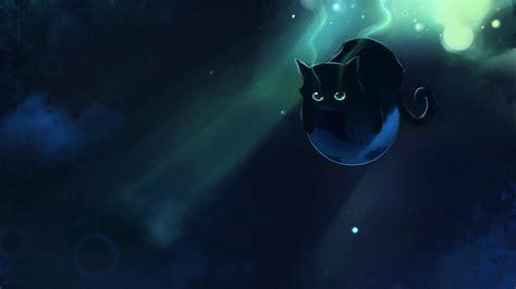 wallpaper cat anime black space cat wallpaper wallpaper studio 10 tens of