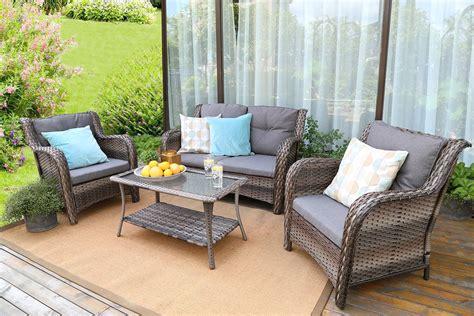 baner garden  resin wicker outdoor patio furniture set