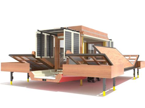 expanding solar tiny home on wheels