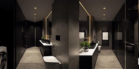 luxury bathroom lighting 6 perfectly minimalistic black and white interiors