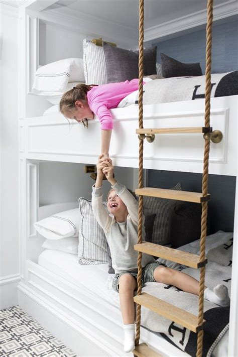 padding for bunk bed ladder inspiration built in bunks curtain hardware and rope ladder