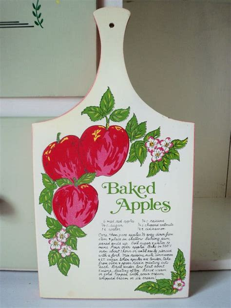 decorative apple cutting reserved for allyson vintage decorative bread board