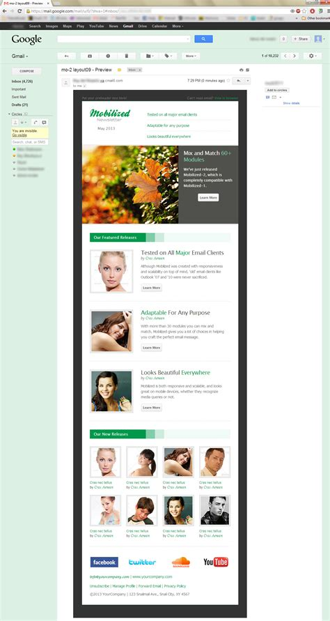 gmail themes for chrome mobilized 2 responsive modular email templates by