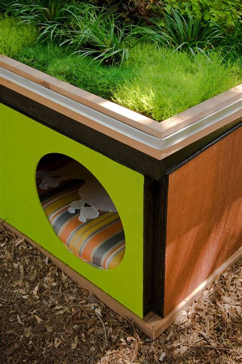 dog house roofs eco chic pet houses offer creature comforts green roof dog cat bird houses