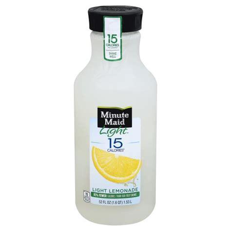 minute maid light lemonade nutrition minute maid light lemonade nutritional value nutrition