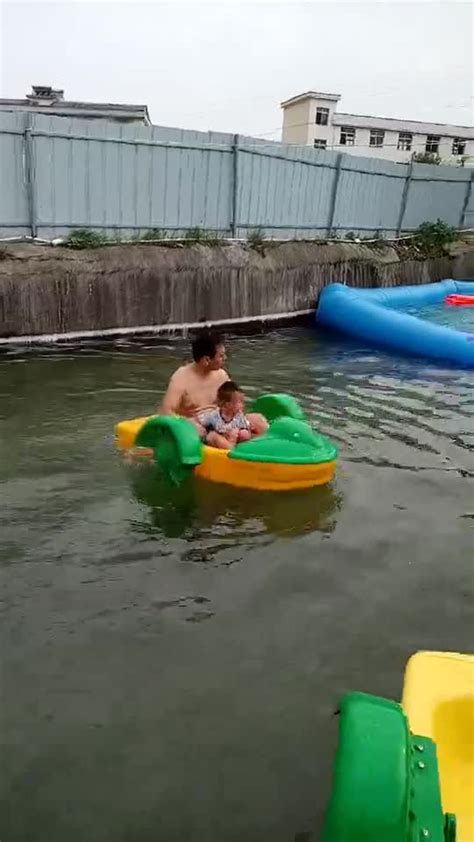 kids paddle boat plastic kids hand paddle boat for water park amusement