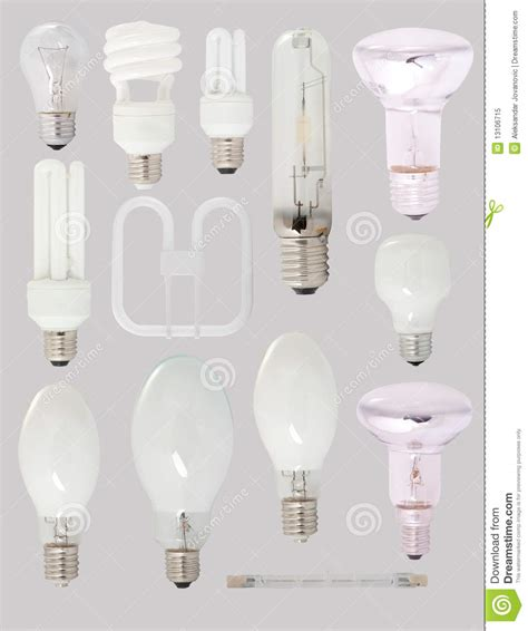 different types of bulbs royalty free stock photo image